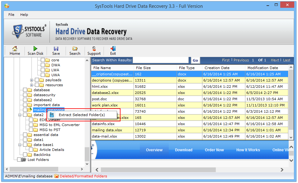 extract multiple files